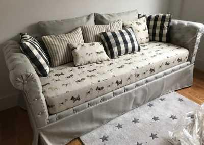 sofa combinado perros- Tapicería Victorio